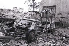 Who cares (EfimovicH) Tags: old abandoned car pueblo citroen coche 2cv cabrio abandonado belchite