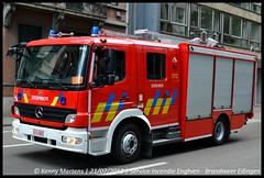 Service d'Incendie Enghien - Halfzware autopomp P2 (gendarmeke) Tags: 21 july national juli juillet brandweer 2012 nationale défilé pompiers enghien nationaal halfzware serviceincendie autopomp