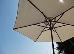 parasol (dawn.v) Tags: uk summer england white umbrella july sunny parasol shade dorset summertime poole walledgarden sunnyday heatwave hotweather hothothot keepingcool uptonhouse ukheatwave
