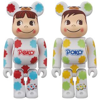 可愛+可口!不二家 PEKO & POKO 牛奶糖包裝紙BE@RBRICK