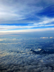 Approaching Vancouver (aitramah) Tags: blue sky canada mountains vertical vancouver clouds airplane bc view cloudy britishcolumbia bluesky overhead verticallandscape verticalphotography verticalnature