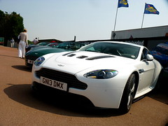 V12 (BenGPhotos) Tags: white beautiful car festival martin fast super racing exotic british hatch circuit supercar aston brands vantage v12 centenary gn13dmx
