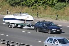Four Winns on the A282 (kenjonbro) Tags: uk blue england white sport stone kent estate speedboat powerboat peugeot stationwagon dartford dartfordtunnel fourwinns a282 worldcars dartfordrivercrossing kenjonbro canoneos5dmkiii canonef70200mm128l1siiusm sdf575