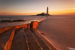 Mind The Steps (Dave Brightwell) Tags: light sunlight lighthouse seascape sunrise canon steps northumberland northeast hitech redsnapper whitleybay stmarysisland bwnd davebrightwell