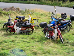 Honda Cub ride - Widdop Moor (Lawrence Peregrine-Trousers) Tags: bike honda cub ride super motorbike motorcycle vier supercub c70 c50 4stroke c90 ffffffffff takt pispot