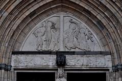 Uppsala (Suecia). Catedral. Fachada. Portada oeste. Detalle (santi abella) Tags: uppsala suecia catedraldeuppsala