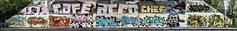 VDR Sinojam 10 Ans Mur Sud Juin 2013 DSP6966_70_76 (Photofil) Tags: urban streetart graffiti cafe montréal montreal scan urbanart chef jaws fone fortunes narc acro havok meor scien klor otek photofil sinojam2013