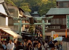 Tori gate of Enoshima (Germn Vogel) Tags: island gate asia crowd enoshima tori shinto kanagawa crowded density dense eastasia shintoism