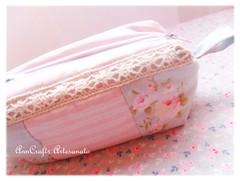 Porta-lpis da Vernica - romantique VI (AnnCrafts Artesanato) Tags: vintage fabric tilda pencilcase portalpis necessaires vintagepurse