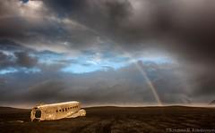 DC-3 @ Slheimasandur (Kristinn R.) Tags: sky beach clouds blacksand iceland rainbow nikon wreck dc3 d3x slheimasandur nikonphotography kristinnr