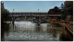 Goring (lovestruck.) Tags: uk bridge autumn england water thames river evening boat town waves mooring nik riverthames goring 2013 goringlock niksofware lightroom4 colorefexpro4