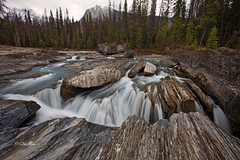 Natural Bridge Waterfall, Yoho National Park (PhotoDG) Tags: longexposure color nature field river landscape waterfall nationalpark wideangle canadian glacier naturalbridge rockymountain polarizer yoho rockformation canadianrockies kickinghorseriver glacierfed canadianrockymountain ef1635mmf28liiusm eos5dmarkii