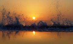 Catch a Wave - EXPLORED! Thank You :-) (Fotomondeo) Tags: morning sea espaa sun sol maana beach valencia sunrise mar spain waves playa alicante amanecer olas lx7 playadesanjuan lumixlx7 panasoniclumixlx7