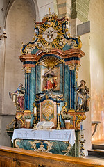 Inside Eversberg church (Rene Salu) Tags: zeiss germany places meschede sauerland carlzeiss eversberg planart1450mm contaxyashika fujixe1