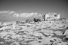 Acropolis of Athens (pixiprol) Tags: white black temple europa europe noir capital athens greece capitale acropolis blanc grece athenes acropole erechtheum akropolis