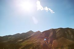 Nebo Flare (α RAINYNEPTUNUS ω) Tags: city sunset summer mountain mountains film analog utah analogphotography sunglow filmphotography