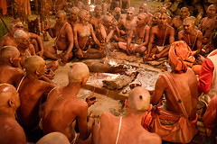 Sadhu Initiation (Leonid Plotkin) Tags: religious asia religion hindu hinduism mystic sadhu ascetic initiation mela allahabad uttarpradesh kumbhmela kumbhamela sanskar