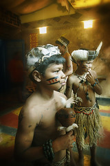 My Origin, My Pride... (carf) Tags: children child kid kids boy boys indigenous indgena guarani mby indians forsakenpeople identity brasil brazil tangar art community esperana hope social poverty impoverished underprivileged spiritual philosophy culture cultural traditions ecbf edimilson miri