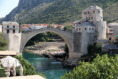 old bridge  (cyberjani) Tags: bridge river mostar bosnia neretva