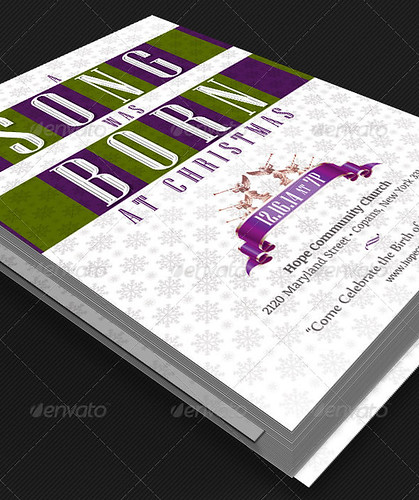 A Song Was Born Christmas Cantata Flyer Template