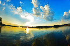 LC sunset (tylersoden) Tags: trees light sunset sky usa sun sunlight lake reflection nature water clouds reflections landscape virginia nikon fisheye environment d4 ight frozenmoment lakecaroline nikond4 olliphotography