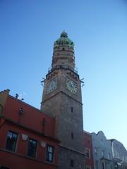 Innsbruck, Austria (Guenther Lutz) Tags: tower clock austria europe december kodak bluesky clocktower innsbruck 2013 innsbruckaustria kodakz1275 december2013
