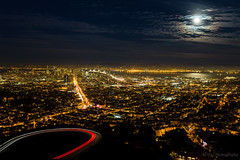 Golden City (Marvin Manabat Photography) Tags: sanfrancisco above moon night landscape golden high glow cityscape twinpeaks baybridge bayarea lighttrails 2470lii