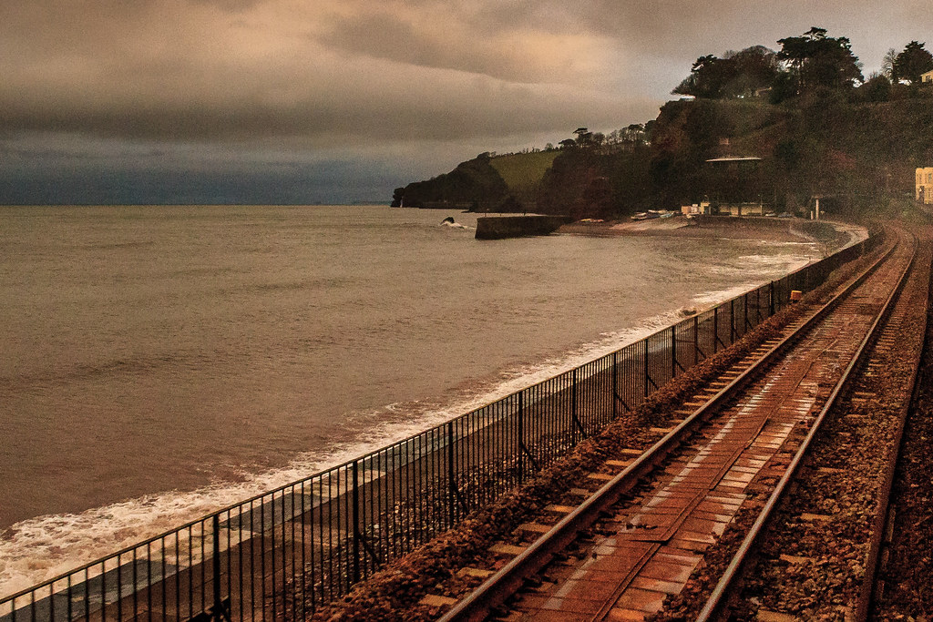 The Great Western main line at Dawlish