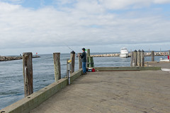Menemsha fisherman on dock (Massachusetts Office of Travel & Tourism) Tags: island harbor fisherman dock capecod massachusetts marthasvineyard memensha
