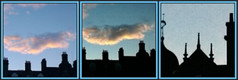 Aberdeen Rooftops 4 (Golux.) Tags: sunset chimney sky cloud fish birds silhouette rooftops aberdeen panels finial