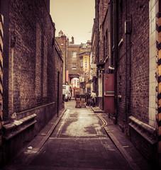 Loading Bay (Stephen Champness) Tags: china city people london work chinatown fuji hdr loadingbay photomatix lightroom4 fujix100 adobelightroom4