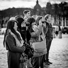 Tourists in Versailles (Thomas Rombauts) Tags: world street camera portrait people blackandwhite bw white black france eye castle tourism photography nikon noiretblanc thomas candid tourists versailles squareformat placedarmes chateaudeversailles parisregion rombauts