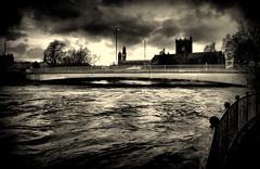High Tide,River Cart (John_A_Irwin*) Tags: abbey mono nikon swollen paisley rivercart renfrewshire hammils d3100