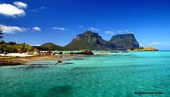 View to Mt Lidgbird and Mt Gower, Lord Howe Island, NSW, Australia (Black Diamond Images) Tags: island paradise australia lagoon wharf nsw rabbitisland lordhoweisland worldheritagearea australianbeaches mtgower mtlidgbird thelastparadise blackburnisland