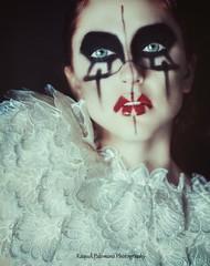 Fallen Angel (Raquel Palomino Photography) Tags: selfportrait me angel canon photography 50mm photoshoot makeup greeneyes fallenangel redlips ngelcado