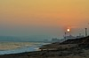 A Blissful Evening (Gowtham_VGC) Tags: road blue sunset sun india beach evening andhra seashore rk vizag