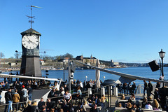 Holiday (Smith-Bob) Tags: street friends party people holiday castle clock oslo norway bar easter relax fun norge spring waterfront drink harbour fort candid scandinavia akershus celebrate fortress chill publicholiday socialise akershusfortress