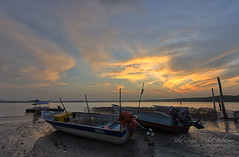 When The Sun Goes Down (nurshammamat) Tags: autumn sunset sun art beauty sunrise landscape photography dawn boat amazing nice nikon dusk glory shade malaysia slowshutter stunning perahu senja teluk mersing niceview nd400 gnd goldenhours nd500 lightcraftworkshop