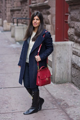 white sweater, navy coat, black boots-1.jpg (LyddieGal) Tags: nyc blue winter red white newyork black fashion sweater outfit coach boots coat navy style denim cashmere wardrobe tjmaxx ralphlauren thrifted outerwear weekendstyle
