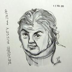 Deirdre Hussey (Fotero) Tags: retrato email dibujo tinta aguada jkpp