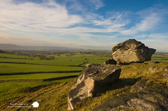 Almscliffe Crag (Stu Raw Photography) Tags: blue sunset sky terrain sun green rock clouds landscape countryside yorkshire scenic farmland grassland almscliffecrag yorkshiredales rockyoutcrops sturawphotography