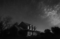 Star Light (houman_thebrave) Tags: ranch bw house home night star blackwhite highcontrast
