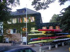 Bootshaus von der Landseite
