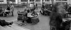 Union Square Chess (Brad Martin 1) Tags: new york city nyc newyork zeiss 35mm sony chess filter lee nd unionsquare a7r littlestopper