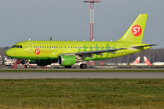 S7 Airlines, VP-BHV, Airbus A319-114 (Anna Zvereva) Tags: plane airport aviation airbus boeing spotting dme domodedovo  uudd