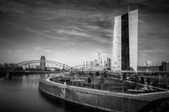 EZB Area (krwlms) Tags: skyline germany deutschland europa europe long exposure european cityscape hessen euro frankfurt main central bank ezb zentralbank osthafenbrücke