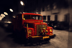 Fire (Niks Freimanis) Tags: auto light car night lensbaby truck canon dark fire sweet low baltic latvia firetruck fireman pro 35 riga composer 6d latvija nakts