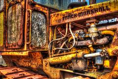 Bulldozer in hdr (TD2112) Tags: yellow fishing rust engine rusty piston hastings hdr highdynamicrange corrosion bulldozer