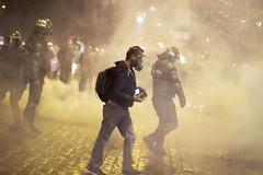 Insitu (Lukas Osses Codelia) Tags: caballo noche cara protesta paseo carabineros pollo viejo humo policia caballero fotografo marcha seor pacos ahumada congelado lacrimogena
