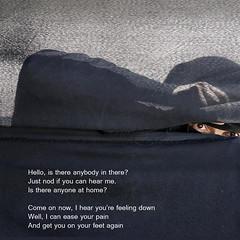 Comfortably Numb (Grain Sand) Tags: pinkfloyd comfortablynumb hello peekaboo burka burqa hidden woman dark eyes